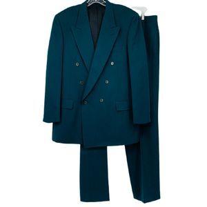 Aldo Conti 44L Teal Turquoise Suit